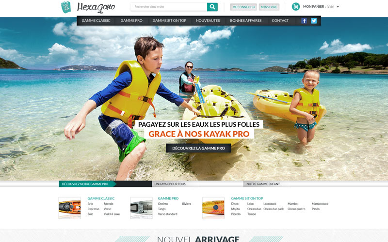 Hexagono ecommerce kayak