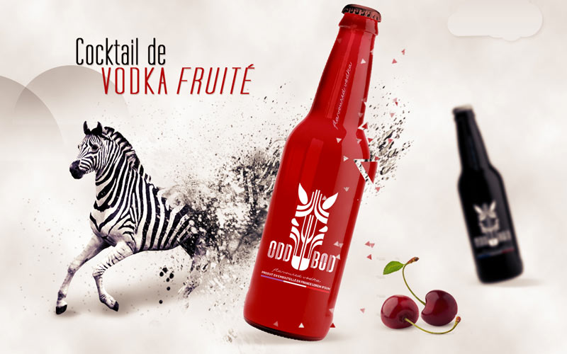Illustration web pour site de vodka